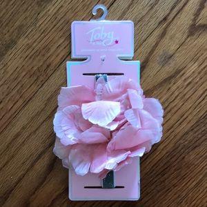 New Baby Girl Pink Flower Headband